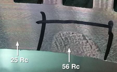 Vaneplate-hardspot
